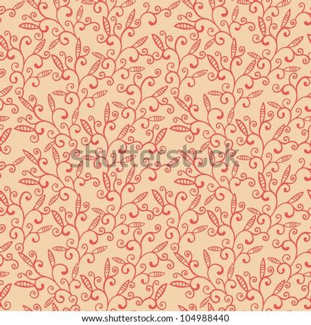 beautiful seamless wallpaper pattern - stock photo
