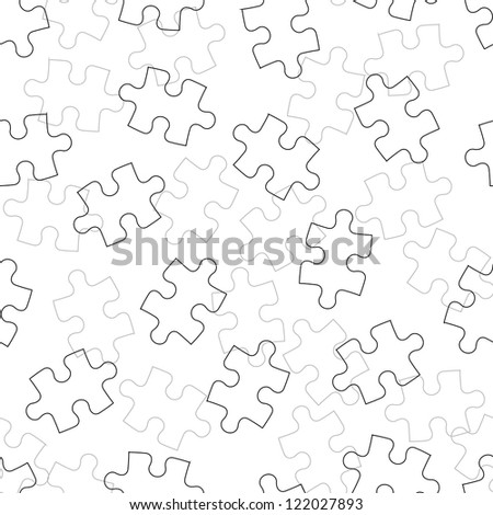 Beautiful  seamless wallpaper with jigsaw puzzle,  illustration