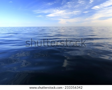 Beautiful seascape blue sea horizon and sky. Tranquil scene. Natural composition of nature.