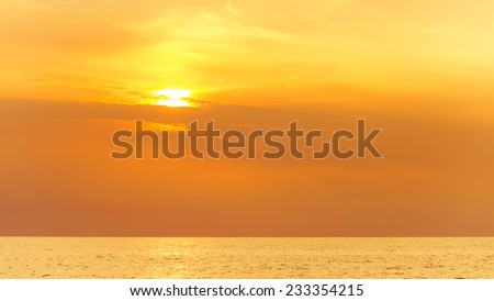Beautiful seascape evening sea sunset horizon and sky. Tranquil scene. Natural composition of nature. Landscape.