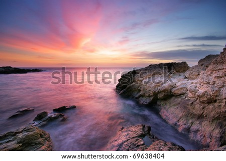 Beautiful seascape.Natural composition of nature.