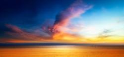 Beautiful seascape of Twilight sky and the sea