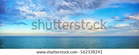 Photo of  beautiful seascape panorama. Composition of nature
