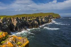 Beautiful seashore of Grimsey island nearby Iceland, summer, 2015