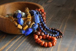 Beautiful semiprecious stone beads
