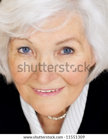 Beautiful senior woman portrait closeup