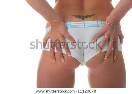 stock photo beautiful sexy bottom in shorts with tattoo 11120878 Longest List of Free Porn