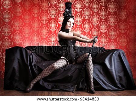 beautiful sexy woman in black...