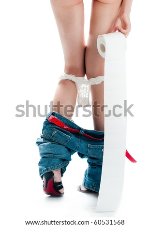 stock photo beautiful sexy woman with her back to camera standing with roll of toilet paper panties and jeans 60531568 ... sinhala wela katha sinhala sex katha sinhala wal katha Sri Lankan sex ...