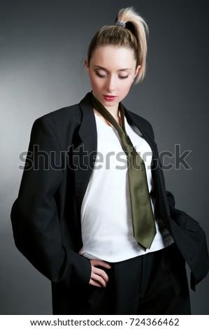 2d7b981a879 Beauty business woman in formal suit… Stock Photo 305413040 - Avopix.com