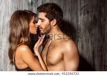 Beautiful sexy young people in love.