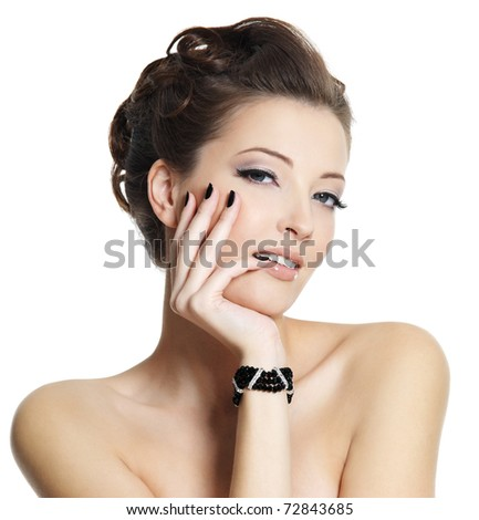Lifestyle - Pagina 4 Stock-photo-beautiful-sexy-young-woman-with-black-manicure-and-stylish-hairstyle-posing-on-white-background-72843685