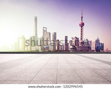 beautiful shanghai lujiazui financial center aside the huangpu river. #1202996545
