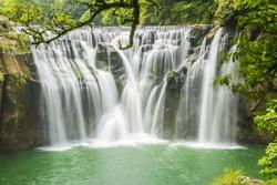Beautiful Shifen waterfall, Pingxi,Taipei, Taiwan.