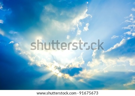 Beautiful shining sky