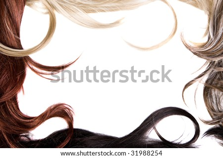 beautiful shiny healthy hair frame