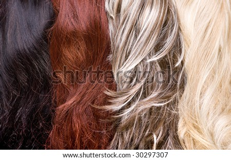 stock photo : beautiful shiny healthy hair texture