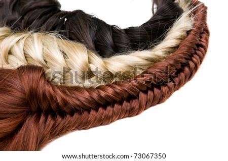 beautiful shiny healthy style hair - stock photo