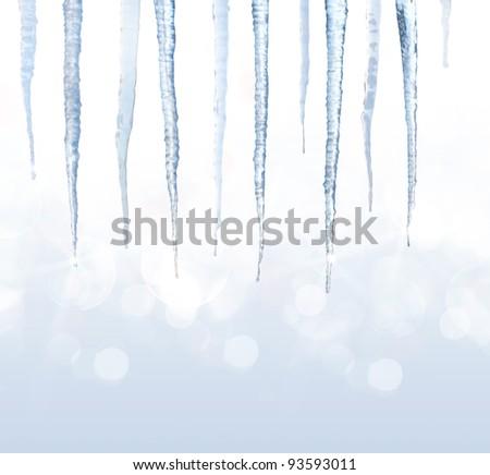 Beautiful shiny icicles