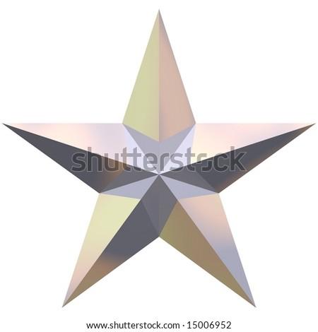Beautiful shiny star isolated on white