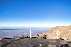 Beautiful shot of the Large millimeter telescope Alfonso Serrano in Mexico. Relief highest mountain