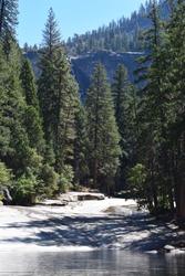 Beautiful shot of Verna Falls in Yosemite, CA.