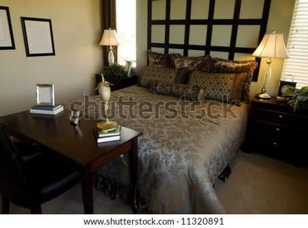 Beautiful Showcase Bedroom Interior Stock Photo 1132089