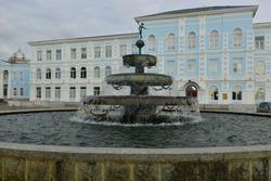 Beautiful showy fountain in Batumi
