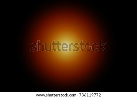 Beautiful showy orange flare and black background