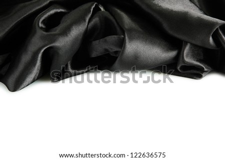 beautiful silk drape, isolated on white