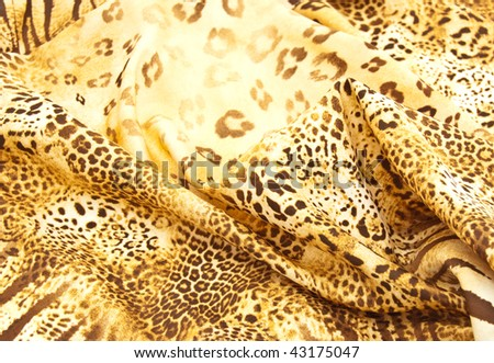 Beautiful silk scarf with a predatory pattern