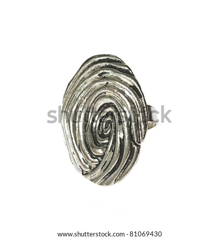 Beautiful Silver Rings Beautiful Silver Ring Isolated