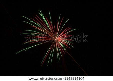 beautiful silvester firework
