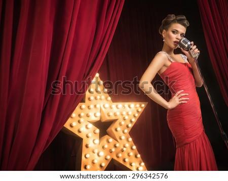 Beautiful singer on the scene