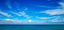 Beautiful sky and blue sea