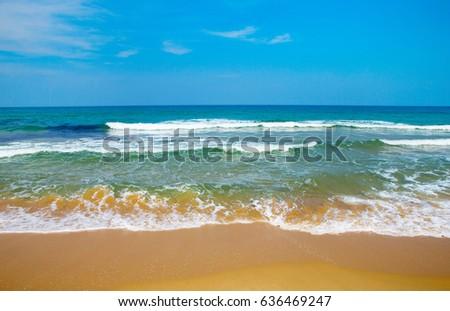 Beautiful sky and blue sea #636469247