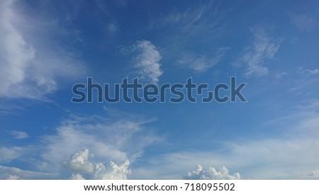 Beautiful sky and fields,blur #718095502