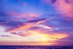 beautiful sky at sunset