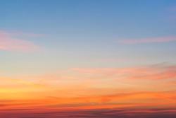 Beautiful sky at sunset or a sunrise
