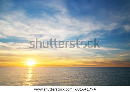 Beautiful sky background. Composition of nature. #601641794
