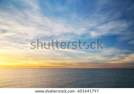 Stock Photo Beautiful sky background. Composition of nature.