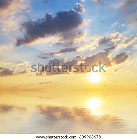 Beautiful sky background. Composition of nature. #609908678