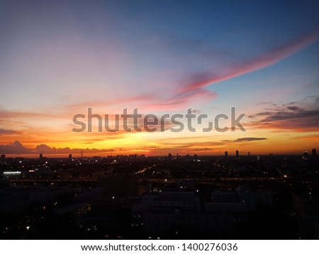 beautiful sky, beautiful view,beautiful city, beautiful sunset, beautiful sunshine  #1400276036
