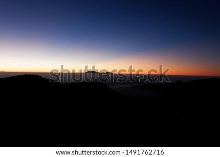 Beautiful sky before sunrise, Bromo sunrise view point, Indonesia.