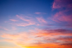 Beautiful sky during the sun rise background.