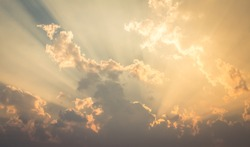 Beautiful sky evening Golden cloud Suset