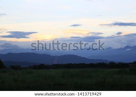 Beautiful sky Evening sky The evening sky at night #1413719429