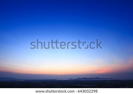 Beautiful sky on the twilight time