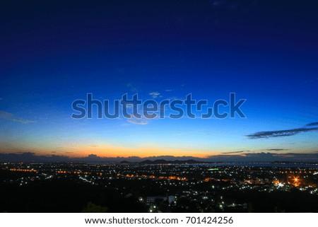 beautiful sky on twilight time...