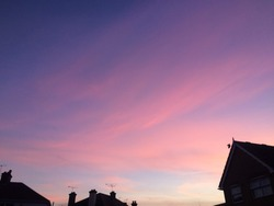 beautiful sky with a contrast of pink and purple and blue